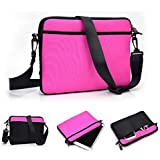 Kroo Universal Protective sleeve/messenger bag/Cover Case for Apple iPad Mini 2 / 3 Tablet(Loose Fit) in Magenta