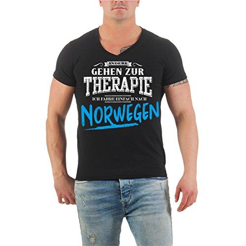 Männer und Herren T-Shirt Therapie? Ich fahr nach NORWEGEN Größe S - 8XL