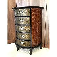 meuble de rangement chinois 5 tiroirs home delight en bois de squoia fonc meuble