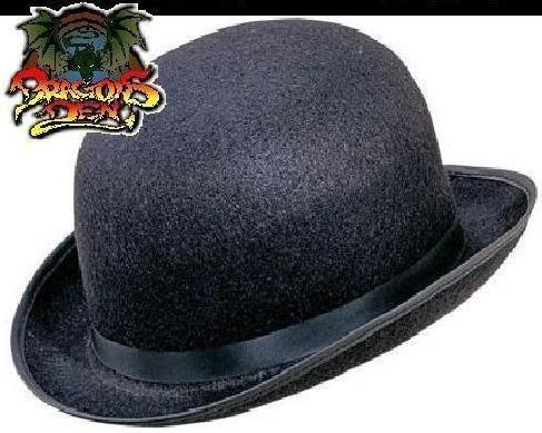 ck Bowler Hat Movie Fancy Dress 90s 80s 70s 60s Top Hat fancy dress by The Dragons Den (Clockwork Orange, Halloween)