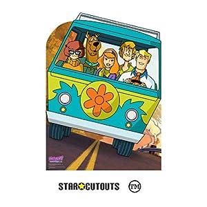 StarCutouts SC1357 Scooby Doo Mystery Machine - Recorte de cartón para Furgoneta, Ideal para Fiestas temáticas, fanáticos y Eventos, 134 cm de Alto, Multicolor