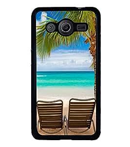PrintVisa Nature Beach Scene High Glossy Designer Back Case Cover for Samsung Galaxy Core 2 G355H :: Samsung Galaxy Core II :: Samsung Galaxy Core 2 Dual