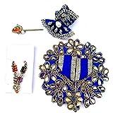 krishnagallery Moti Diamond Laddu Gopal Dress Special for Kanha Ji (Blue, Medium Size 2 No)