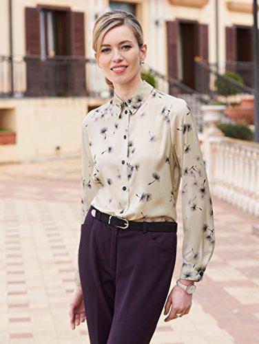 Damen Bluse mit floralem Dessin by MONA ecru-lavendel