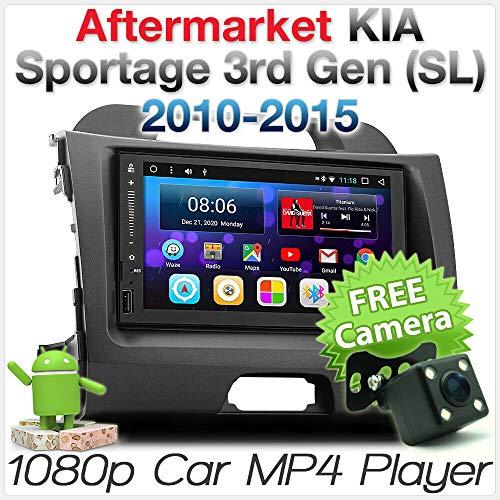 Tunez 17,8 cm (7 Zoll) Android Auto MP3 MP4 USB SD Digital Radio DAB + Player für Aftermarket Kia Sportage SL 2010-2015 Stereo Radio GPS Faszien-Kit MirrorLink FHD 1080p