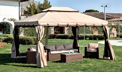 Homegarden gazebo in alluminio 3 x 4 metri