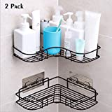 YUNKE Shower Organizer Storage, Bathroom Shelves, Shower Caddy with Rustproof Stainless Steel Adhesive Sticker for Kitchen & Bathroom Accessories- Adhesive Sticker Included
