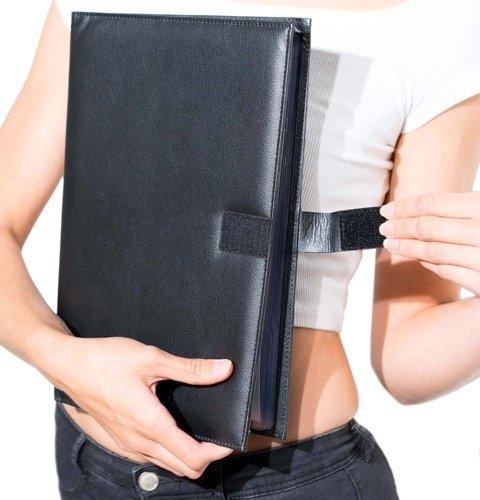 Modelmappe, Modelbook / Portfoliobuch | Portfoliomappe für Fotografen | A4 | mit 20 Hüllen eingeschweißt 40 Seiten | schwarz