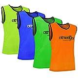 10 Stück Fußballleibchen - Trainingsleibchen - Leibchen - Markierungshemden von athletikor