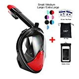 vaporcombo Snorkel Mask 180° view for Adults and...