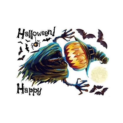 Wand-Aufkleber Halloween-Kürbis-Hauptdekor-Wand-Abziehbild-Aufkleber DIY Wandkunst-Aufkleber Self Adhesive entfernbare PVC-Wand-Papier-Raum-Dekor