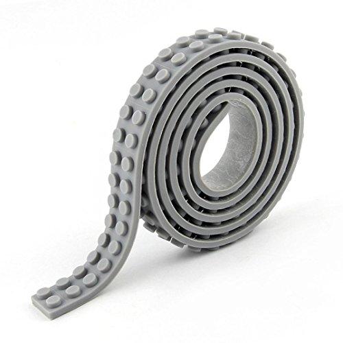 Kompatibel Tape Roll Loops Kompatibel Spielzeug Upxiang Basic Baustein Tape Nimuno Loops (Grau) (Loop-stud)