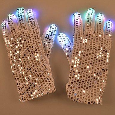 CLCJW Éclairage créatif,Patch de la Saint-Valentin gants d'idées cadeau LED allument gants équipés de cool danse des lumières LED