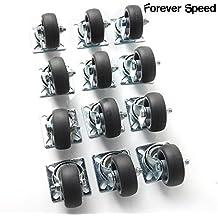 Forever Speed Lote de 12 Ruedas Pivotantes Ruedas Giratorias de Transporte para Carritos Muebles Ø 50mm Soportan 40 kg por rollo