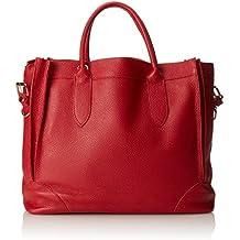 CTM Borsa elegante a mano da donna, borsa a sacca in morbida pelle made in Italy 37x30x15 Cm