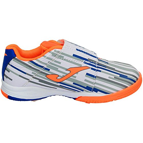 Brancas Joma Futebol Salão 702 Sapatos Crianças Sapatos Tátil Velcro De Branco De Salão gwUt46qw