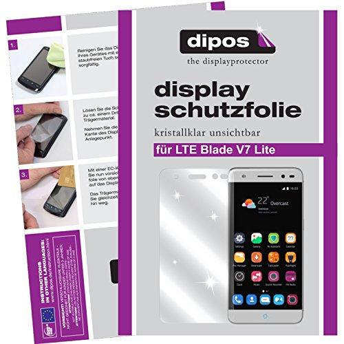dipos I 2X Schutzfolie klar passend für ZTE Blade V7 Lite Folie Bildschirmschutzfolie