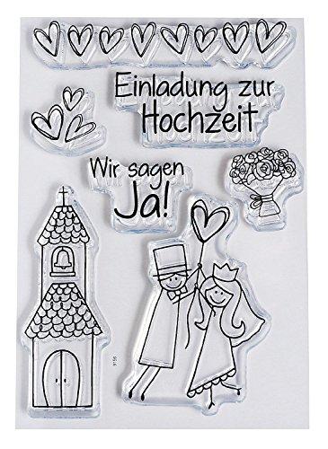 efco Clear Stempel-Set Hochzeit