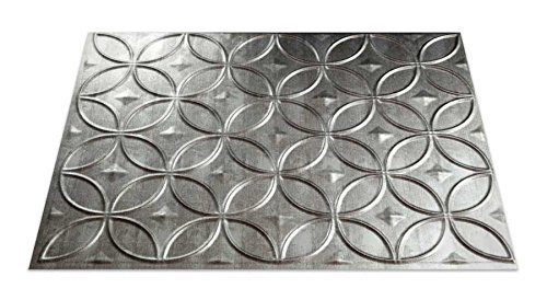 Fasade B61-21 Easy Installation Backsplash Rings Panel for Kitchen and Bathrooms, 18 x 24, Crosshatch Silver by Fasade (Fasade Panels Backsplash)