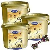 3 x 4 kg Lyra Dog Senior im Eimer Premium Hundefutter für ältere Hunde + Kauseil