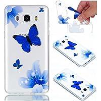 Preisvergleich für Samsung Galaxy J7 2016 Hülle Case, Cozy Hut® [Relief Series] Ultra Dünn [Crystal Case] Transparent Soft-Flex Handyhülle...