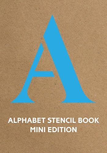 Alphabet Stencil Book Mini (blue) (Stencil Books)