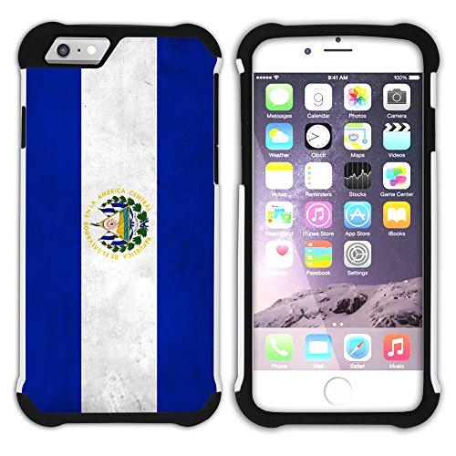 Graphic4You Vintage Uralt Flagge Von Dominikanische Republik Design Hart + Weiche Kratzfeste Hülle Case Schale Tasche Schutzhülle für Apple iPhone 6 Plus / 6S Plus El Salvador Salvadorianisch