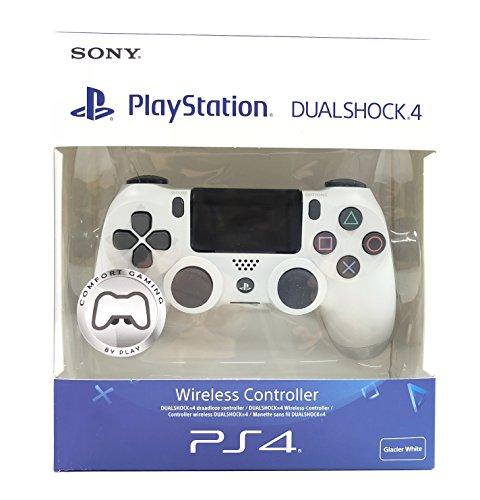 PS4 Dualshock 4 V2 Manette Confort Gaming 2x Palettes Scuf - Playstation 4 - Blanche (Fortnite, Call of Duty, Dark Souls)