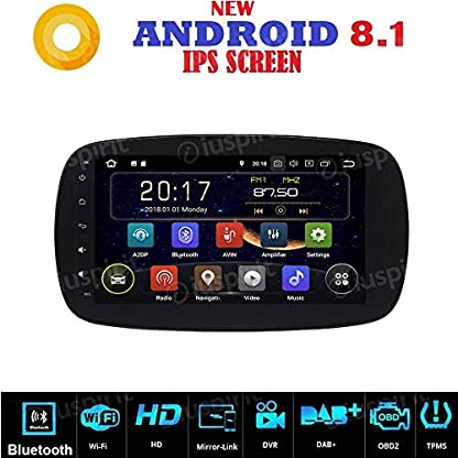 Android-71-GPS-USB-WLAN-Bluetooth-Autoradio-Navi-Smart-Fortwo-W453-2014-2015-2016-2017