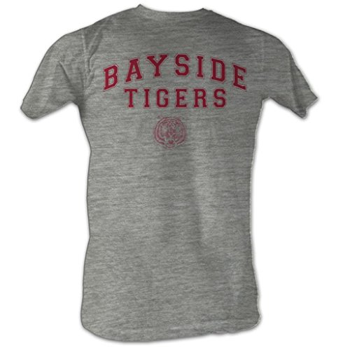 Saved By The Bell - Bayside Tigers Männer T-Shirt In Grau Heather, XXX-Large, Gray Heather -