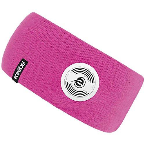 Earebel Lifestyle Slim Headband in Pink - kabellose Übertragung über Bluetooth (Mit integriertem, kabellosen Bluetooth - Kopfhörern und Mikrofon zum Telefonieren) -