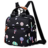 Ballon-Mama-Rucksack, Reisetasche, Handtasche, einzelne Umhängetasche, schräge Tasche, Schultertasche, weibliche Tasche, schwarz