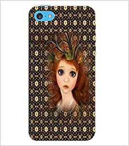 PrintDhaba Sweet Girl D-5049 Back Case Cover for APPLE IPHONE 5C (Multi-Coloured)