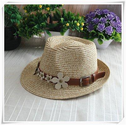 DMXY-Été casual Hat antistatique Chapeau Vacances Beach straw hat jazz britannique hommes et femmes Riding Hood, des décalcomanies Khaki