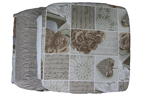 Russo tessuti set cucina cordinabile tovaglia copritavola coprisedie copriforno cuscini beige-6 cuscini coprisedia