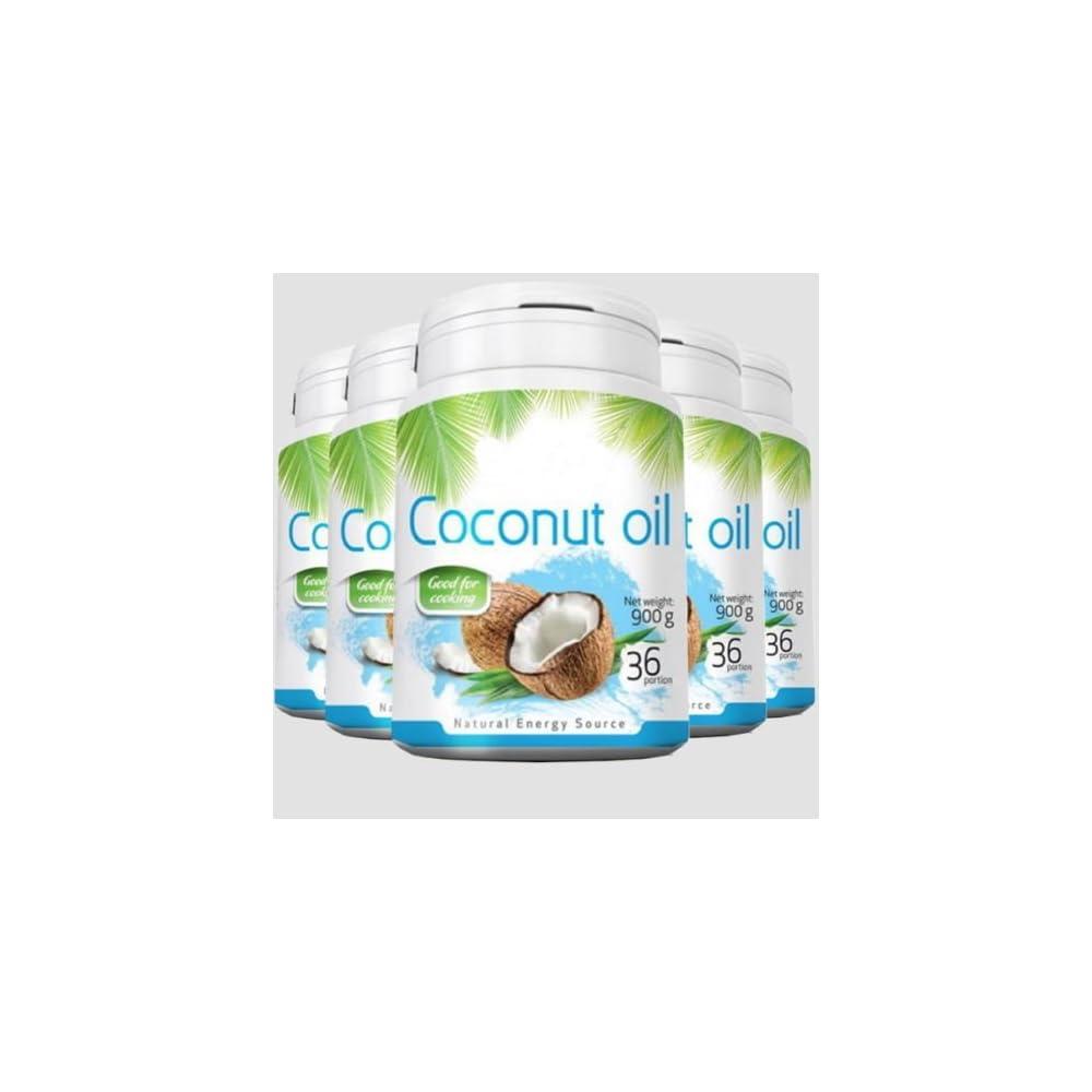 4500g 4500ml 5x 900g Coconut Oil Kokosl Kokosfett Kokosnussl Geruchlos 100 Natrlich Und Rein Reich An Ungesttigten Fettsuren