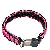 SPRENGER Halsband PARACORD schwarz/pink ClicLock Verschluss für Hunde 55cm