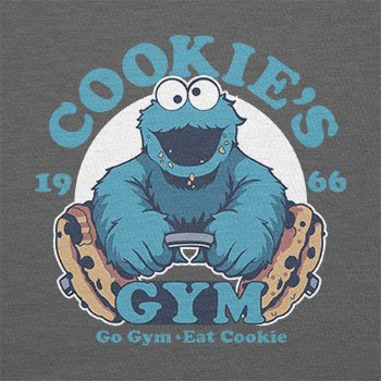 Texlab – Cookie s Gym – sacchetto di stoffa Grau