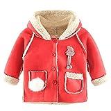 cinnamou Kinder Baby wattierte Jacke Mädchen Cartoon Kaninchen mit Kapuze Halten Warme Wattierte Jacke Mantel