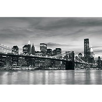 Brooklyn Bridge New York Black & White Wallpaper Mural