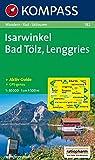 Isarwinkel, Bad Tölz, Lenggries: Wander-, Rad-, Langlauf- und Skitourenkarte, mit Kompass Lexikon. GPS-genau. 1:50.000