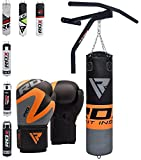 RDX Heavy Boxing 5FT Punch Bag Filled MMA Punching Bags Training Gloves Pull Up Bar KickBoxing
