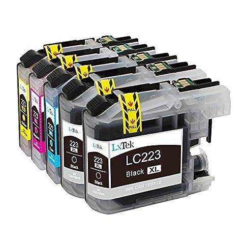 LxTek Compatible Cartouches d'encre Remplacement pour Brother LC223XL LC-223XL LC223 5pack ( 2 Noir, 1 Cyan, 1 Magenta, 1 Jaune ) pour Brother DCP-4120DW DCP-J562DW MFC-J4420DW MFC-J4620DW MFC-J4625DW MFC-J480DW MFC-J5320DW MFC-J5620DW MFC-J5625DW MFC-J5720DW MFC-J680DW MFC-J880DW Imprimante