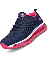 6a3e9e6c3585 Men Women Running Shoes Sports Trainers Shock Absorbing Sneakers for  Walking Gym Jogging Fitness Athletic Casual
