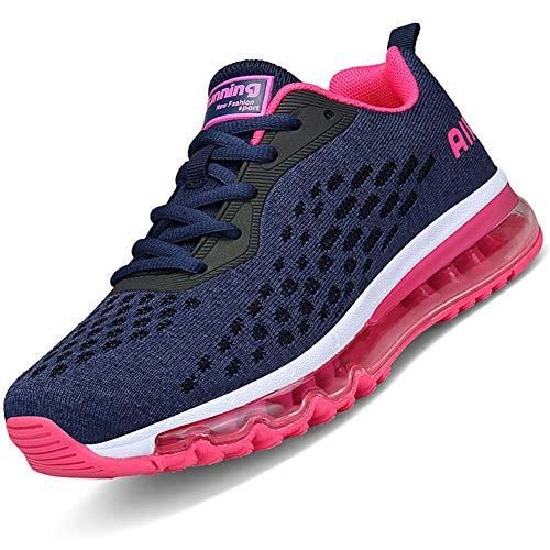 Mabove Laufschuhe Herren Damen Turnschuhe Sportschuhe Straßenlaufschuhe Sneaker Atmungsaktiv Trainer für Running Fitness Gym Outdoor(Pink.R/HK78,37 EU) - Schuhe Für Männer Running