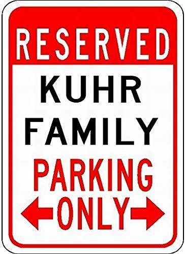 Parkschild mit Aufschrift Kuhr, aus Metall, für Parkplatz, personalisierbarer Nachnamen, für Gagrage, 20,3 x 30,5 cm