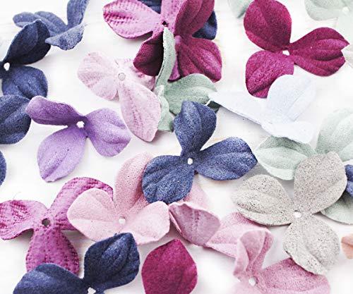 au, Rosa, Rot, Stoff, Textil-Blatt-Wohnung 3 Drei Blätter Shamrock Kleeblatt Blumen Handarbeit Bastelbedarf 30mm ()