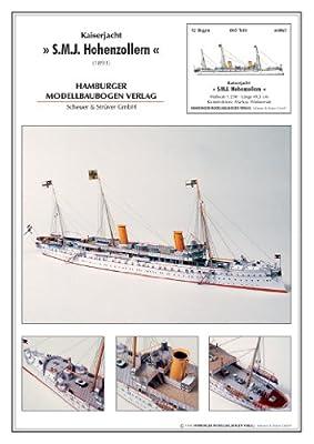 HMV 3036 Kartonmodell Kaiserjacht Hohenzollern von HMV - Hamburger Modellbaubogen Verlag