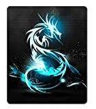 Neon Blue Dragon Custom Mouse Pad/Mouse Mat - Cloth - 3MM - Rectangle 250mm*300mm