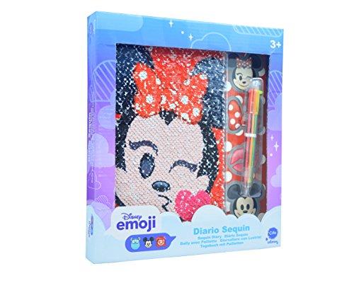 Disney Emoji–Diario Sequin con paillettes reversibili (CIFE 41286)
